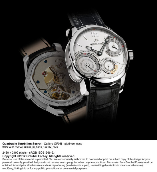 Quadruple Tourbillon Secret by Greubel Forsey