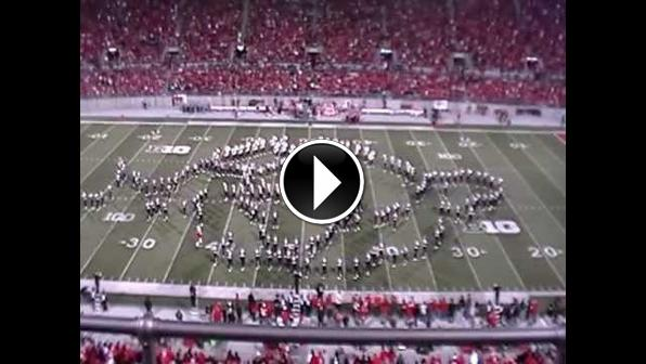 An amazing halftime by the OSUMB